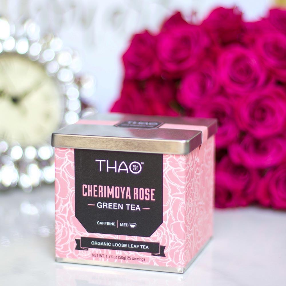Cherimoya Rose Green Tea by THAO Tea Co.  Cherimoya
