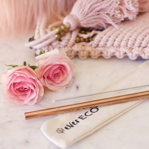 Rose Gold Stainless Steel Straw by Ever Eco